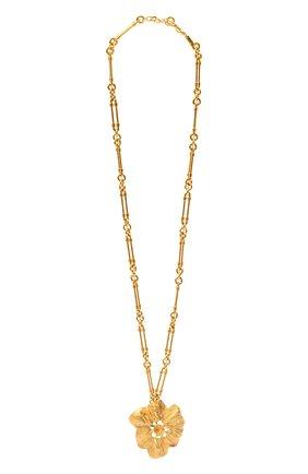 Женское колье SAINT LAURENT золотого цвета, арт. 660823/Y1500 | Фото 1
