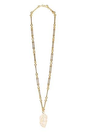 Женское колье SAINT LAURENT золотого цвета, арт. 661016/Y1505 | Фото 1