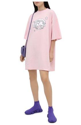 Женские текстильные кроссовки speed 2.0 BALENCIAGA фиолетового цвета, арт. 617196/W2DB1 | Фото 2