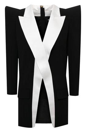 Женский жакет из вискозы BALMAIN черно-белого цвета, арт. VF0TH000/V089 | Фото 1 (Материал подклада: Вискоза; Длина (для топов): Удлиненные; Материал внешний: Вискоза; Рукава: Длинные; Женское Кросс-КТ: Жакет-одежда; 1-2-бортные: Однобортные; Случай: Коктейльный; Стили: Гламурный)