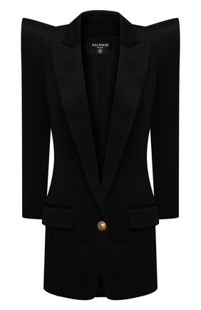Женский жакет из вискозы BALMAIN черного цвета, арт. VF0SI030/J017 | Фото 1