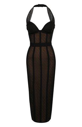 Женское платье BALMAIN черного цвета, арт. VF0RJ010/K249 | Фото 1