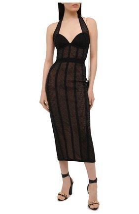 Женское платье BALMAIN черного цвета, арт. VF0RJ010/K249 | Фото 2