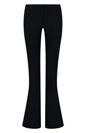 Женские шерстяные брюки BALMAIN темно-синего цвета, арт. VF0PP015/W105 | Фото 1