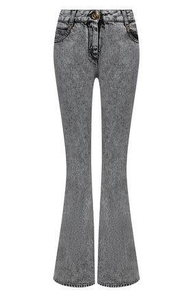 Женские джинсы BALMAIN серого цвета, арт. VF0MJ010/D112 | Фото 1