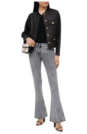 Женские джинсы BALMAIN серого цвета, арт. VF0MJ010/D112 | Фото 2