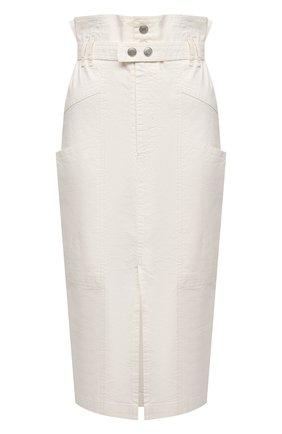 Женская юбка изо льна и хлопка ISABEL MARANT кремвого цвета, арт. JU1292-21E012I/ELEKIA   Фото 1