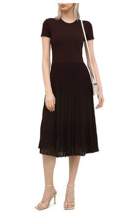 Женское платье из вискозы RALPH LAUREN коричневого цвета, арт. 290849799 | Фото 2 (Случай: Повседневный; Материал подклада: Вискоза; Материал внешний: Вискоза; Рукава: Короткие; Длина Ж (юбки, платья, шорты): Миди; Женское Кросс-КТ: Платье-одежда; Стили: Кэжуэл)