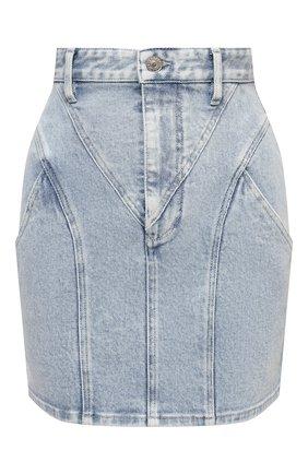 Женская джинсовая юбка ISABEL MARANT голубого цвета, арт. JU1294-21E019I/DIR0SAL   Фото 1