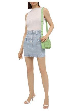 Женская джинсовая юбка ISABEL MARANT голубого цвета, арт. JU1294-21E019I/DIR0SAL   Фото 2