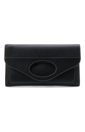 Женская сумка pocket BURBERRY черного цвета, арт. 8041251 | Фото 1 (Ремень/цепочка: На ремешке; Сумки-технические: Сумки через плечо; Материал: Натуральная кожа)
