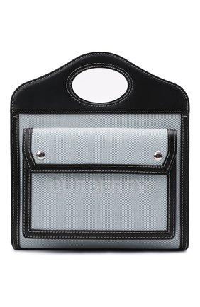 Женская сумка pocket BURBERRY серого цвета, арт. 8039101 | Фото 1