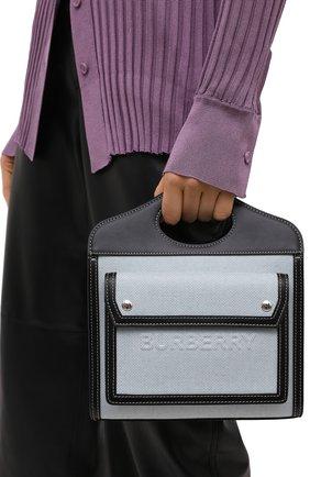 Женская сумка pocket BURBERRY серого цвета, арт. 8039101 | Фото 2