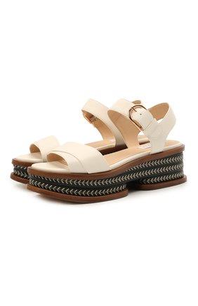 Женские кожаные сандалии GABRIELA HEARST кремвого цвета, арт. 2218450 SN002 | Фото 1