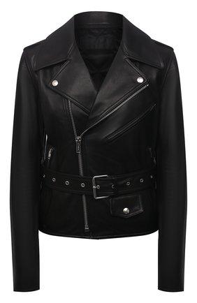 Женская кожаная куртка HELMUT LANG черного цвета, арт. L02HW102 | Фото 1
