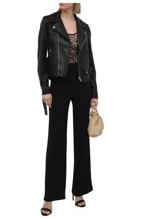 Женская кожаная куртка HELMUT LANG черного цвета, арт. L02HW102 | Фото 2
