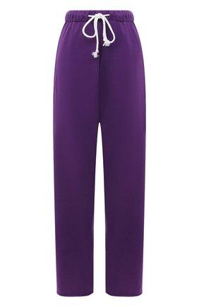 Женские хлопковые брюки NATASHA ZINKO фиолетового цвета, арт. SS212516-13 | Фото 1