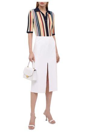 Женская юбка из вискозы MRZ белого цвета, арт. S21-0022 | Фото 2