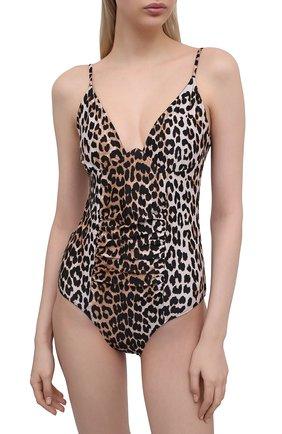 Женский слитный купальник GANNI леопардового цвета, арт. A3243 | Фото 2