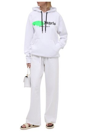 Женский хлопковое худи PALM ANGELS белого цвета, арт. PWBB023S21FLE0080170   Фото 2