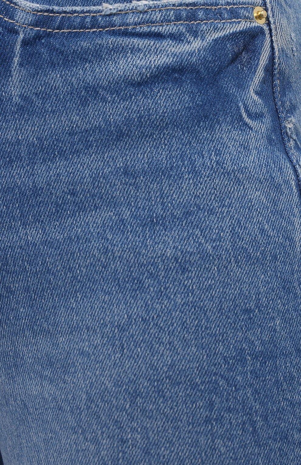 Женские джинсовые шорты FRAME DENIM синего цвета, арт. LVBSHRA118   Фото 5 (Женское Кросс-КТ: Шорты-одежда; Кросс-КТ: Деним; Материал внешний: Хлопок, Лиоцелл, Деним; Стили: Спорт-шик; Длина Ж (юбки, платья, шорты): До колена)
