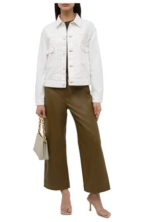 Женская джинсовая куртка MOUSSY белого цвета, арт. 025ESC11-1260 | Фото 2