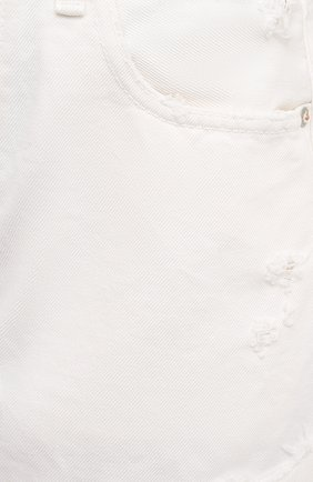 Женские джинсовые шорты MOUSSY белого цвета, арт. 025ESC11-2690 | Фото 5 (Женское Кросс-КТ: Шорты-одежда; Кросс-КТ: Деним; Длина Ж (юбки, платья, шорты): Мини; Материал внешний: Хлопок; Стили: Спорт-шик)