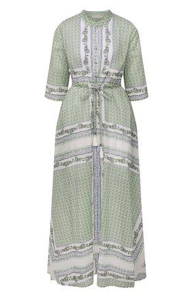 Женское хлопковое платье TORY BURCH зеленого цвета, арт. 83310 | Фото 1