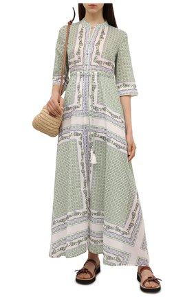 Женское хлопковое платье TORY BURCH зеленого цвета, арт. 83310 | Фото 2
