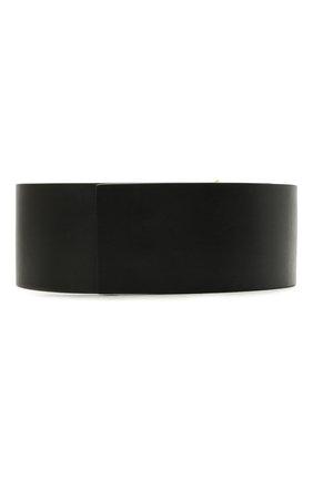 Женский кожаный ремень OFF-WHITE черного цвета, арт. 0WRB044S21LEA001 | Фото 2
