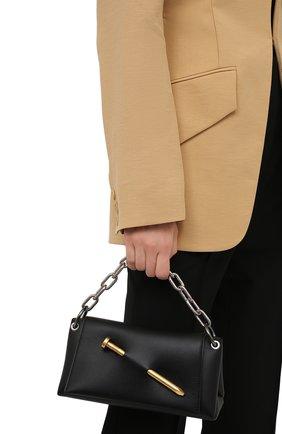 Женская сумка nail OFF-WHITE черного цвета, арт. 0WNN024S21LEA001 | Фото 2