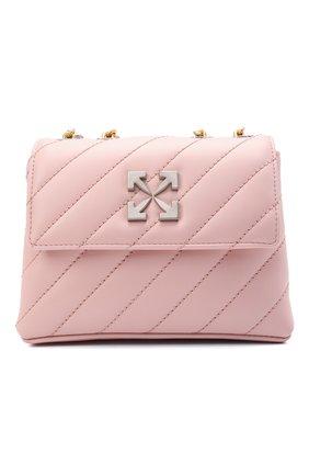 Женская сумка jackhammer OFF-WHITE розового цвета, арт. 0WNN007S21LEA002 | Фото 1 (Размер: mini; Ремень/цепочка: С цепочкой, На ремешке; Материал: Натуральная кожа; Сумки-технические: Сумки через плечо)