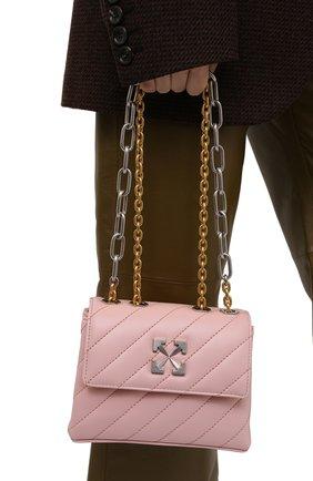 Женская сумка jackhammer OFF-WHITE розового цвета, арт. 0WNN007S21LEA002   Фото 2