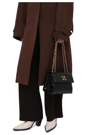 Женская сумка jackhammer OFF-WHITE черного цвета, арт. 0WNN006S21LEA001 | Фото 2