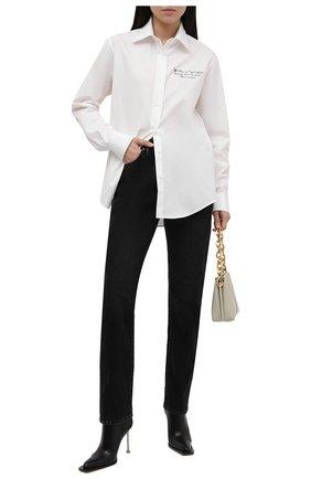 Женская хлопковая рубашка OFF-WHITE белого цвета, арт. 0WGA096S21FAB001 | Фото 2