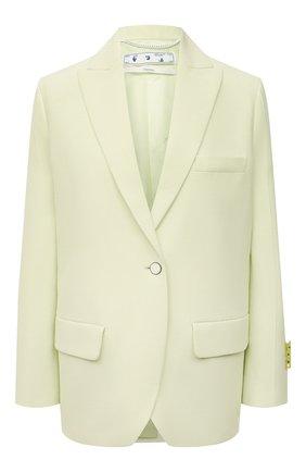 Женский жакет из вискозы и шерсти OFF-WHITE светло-зеленого цвета, арт. 0WEF064S21FAB003 | Фото 1