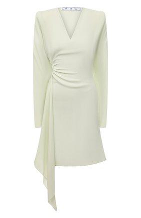 Женское платье из вискозы и шерсти OFF-WHITE светло-зеленого цвета, арт. 0WDB311S21FAB001 | Фото 1