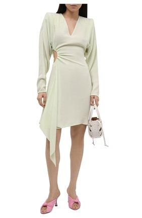 Женское платье из вискозы и шерсти OFF-WHITE светло-зеленого цвета, арт. 0WDB311S21FAB001 | Фото 2