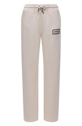 Женские хлопковые брюки OFF-WHITE серого цвета, арт. 0WCH008S21JER001 | Фото 1