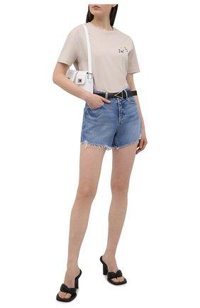 Женская хлопковая футболка OFF-WHITE серого цвета, арт. 0WAA089S21JER002 | Фото 2
