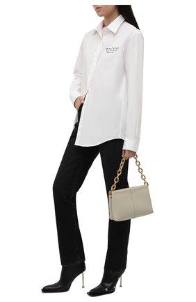 Женские кожаные ботильоны OFF-WHITE черного цвета, арт. 0WID007S21LEA0011000 | Фото 2