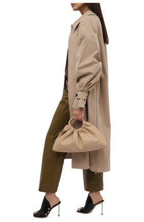 Женские кожаные мюли OFF-WHITE черного цвета, арт. 0WIJ012S21LEA0011000 | Фото 2