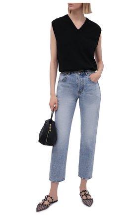 Женские кожаные сабо rockstud VALENTINO черного цвета, арт. VW0S0H15/JNM | Фото 2