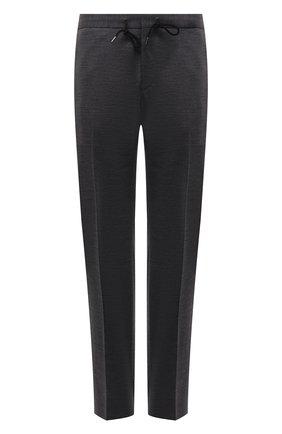 Мужские шерстяные брюки BOSS серого цвета, арт. 50450346 | Фото 1