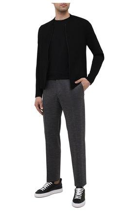 Мужские шерстяные брюки BOSS серого цвета, арт. 50450346 | Фото 2