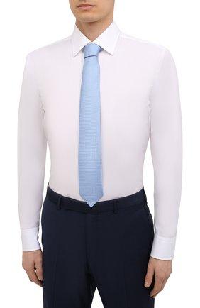 Мужская хлопковая сорочка BOSS белого цвета, арт. 50453911 | Фото 4