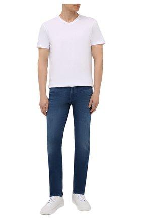 Мужская хлопковая футболка BOSS белого цвета, арт. 50385258 | Фото 2