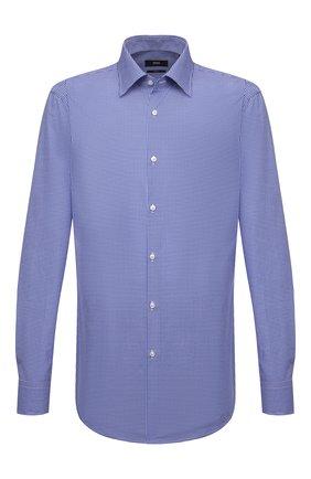 Мужская хлопковая сорочка BOSS синего цвета, арт. 50454003 | Фото 1