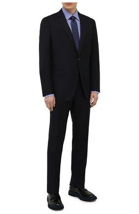 Мужская хлопковая сорочка BOSS синего цвета, арт. 50454003 | Фото 2
