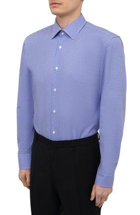 Мужская хлопковая сорочка BOSS синего цвета, арт. 50454003   Фото 3
